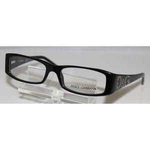 New Dolce & Gabbana Black Eyeglasses